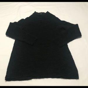 Cos women ribbed mock wool blend sweater M